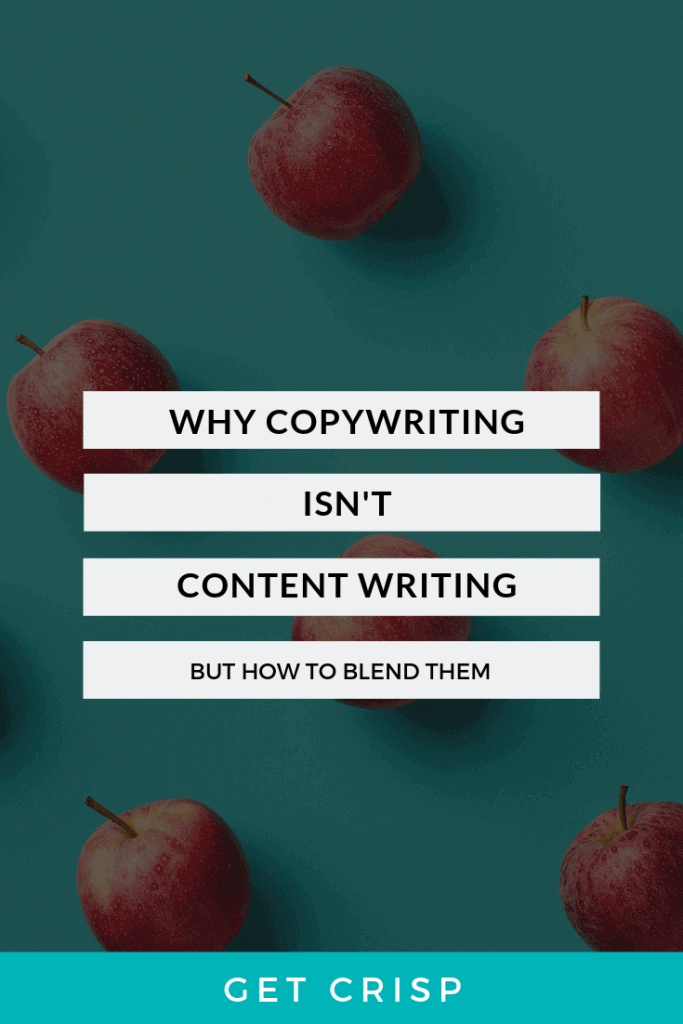 Why Content Writing Isn't Copywriting (But How To Blend Them Brilliantly)