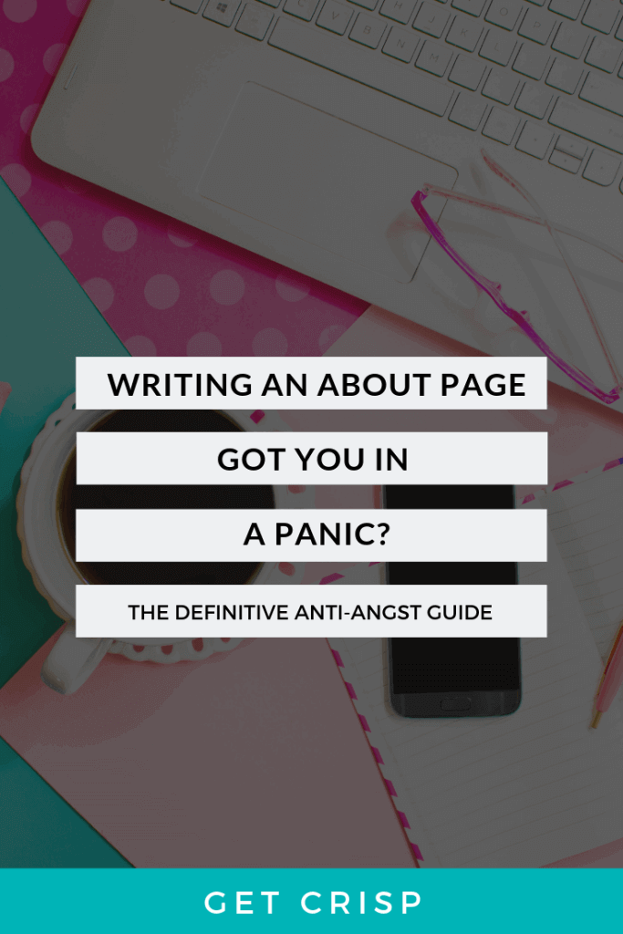 Writing An About Page Got You In A Panic?
