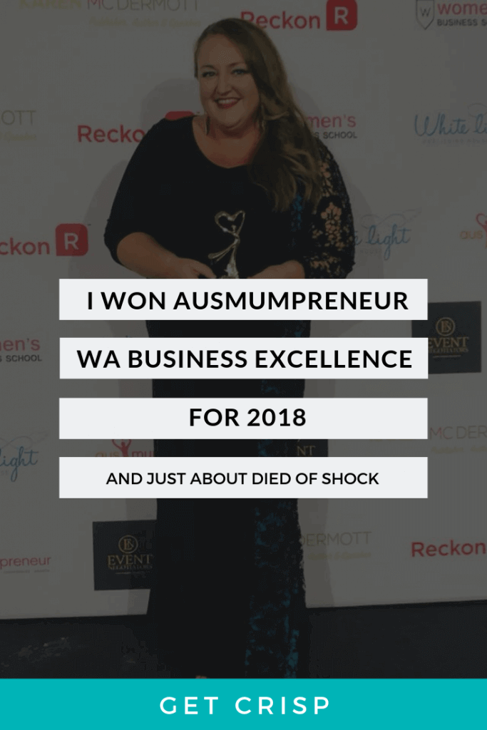 Crisp Copy Named Ausmumpreneur Of The Year in the WA Business Excellence Category