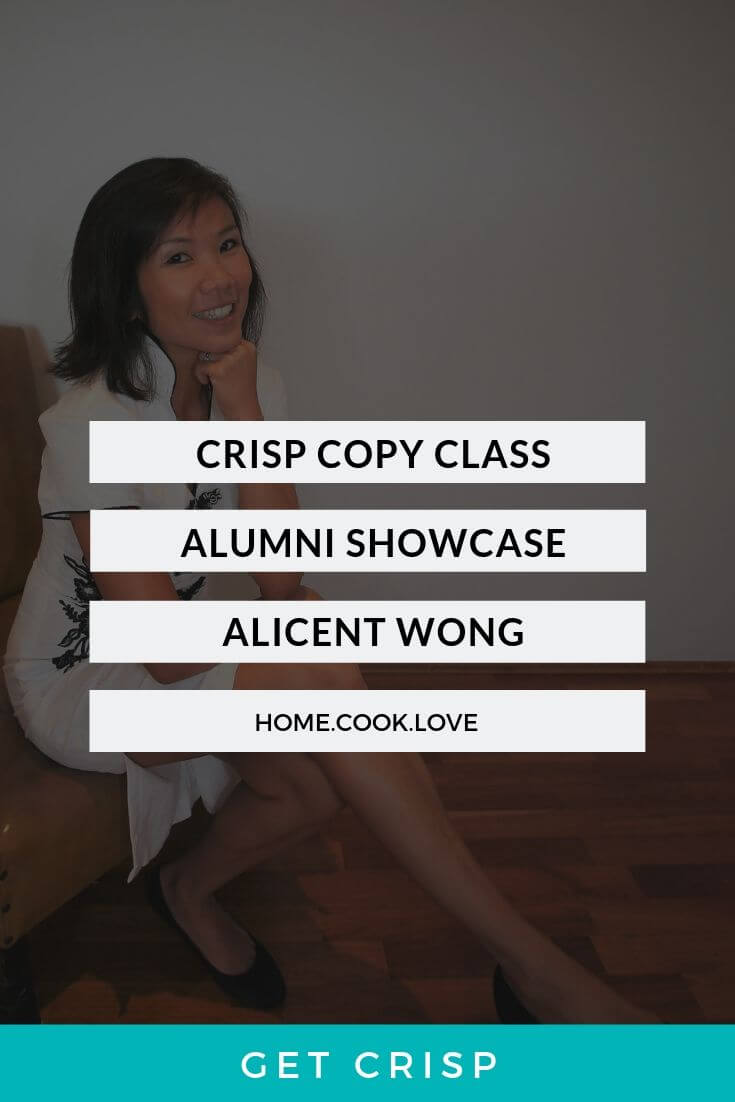 Crisp Copy Class Alumni Showcase – Alicent Wong
